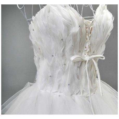 bustier a plume