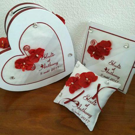 livre d 39 or et ou cagnotte et ou coussin les orchid es coussin mariage. Black Bedroom Furniture Sets. Home Design Ideas