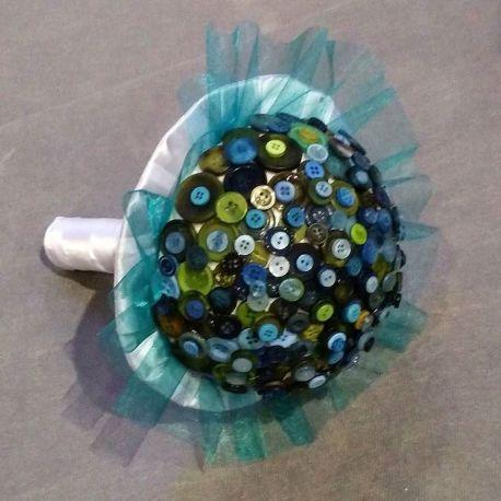Bouquet de mariée original : les boutons
