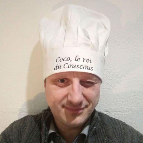 Toque de cuisine personalisée, brodée avec le texte, logo de votre choix