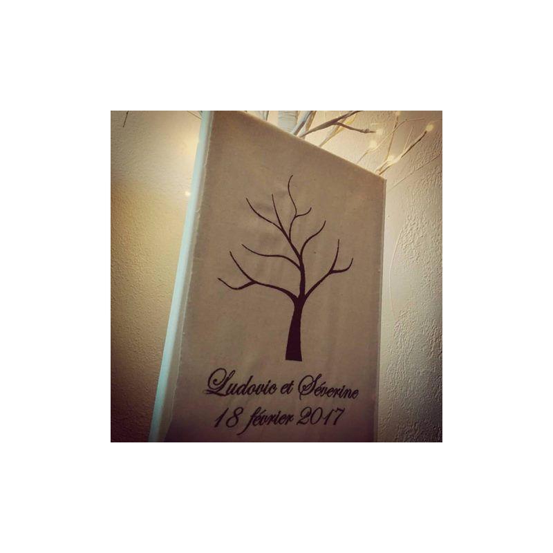 arbre a empreintes brod 233 personnalis 233 sur toile coussin mariage