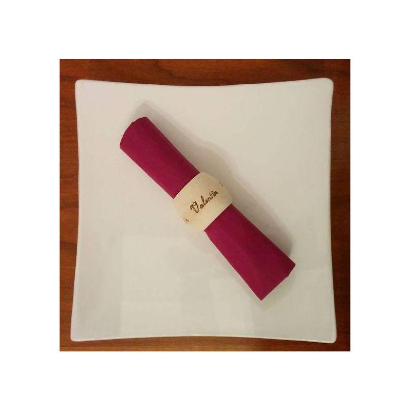 rond de serviettes en bois personnalisé avec votre prénom rond de ...