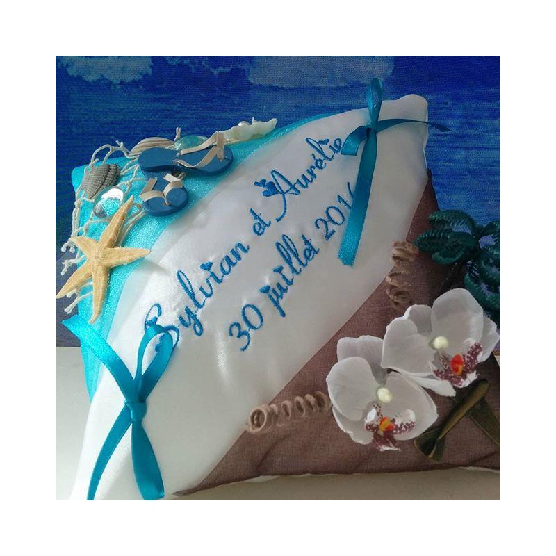 ... pour alliances > coussin alliances : le bi-thème entre terre et mer